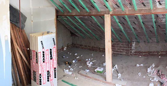 Isolation toit par l'intérieur